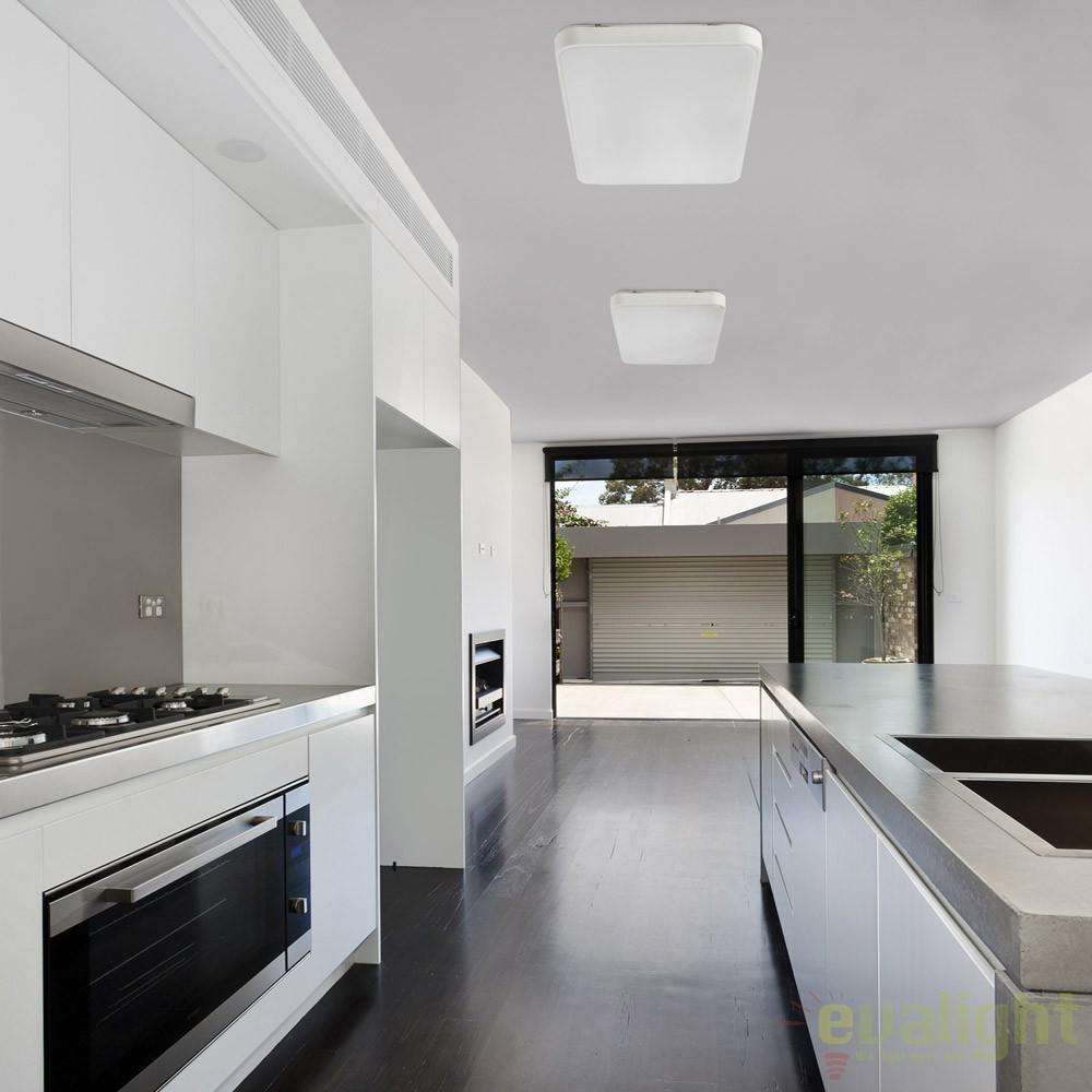 Plafoniera led design modern minimalist sogo 1 62961 faro for Plafonnier cuisine design