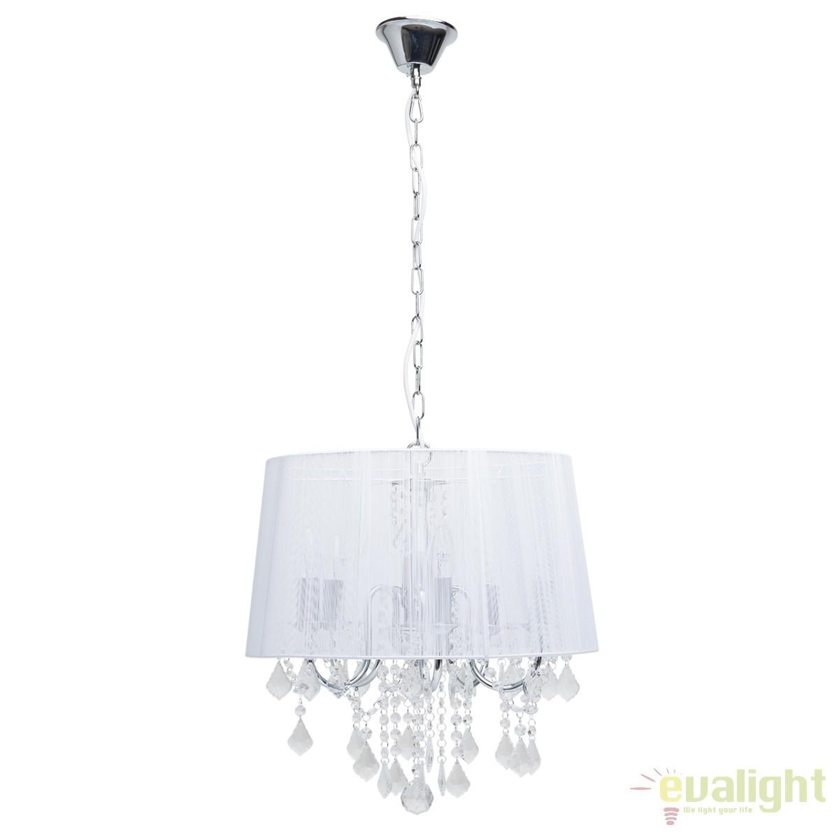 lustra eleganta cu fir de matase alb federica 379017805 mw corpuri de iluminat lustre aplice. Black Bedroom Furniture Sets. Home Design Ideas
