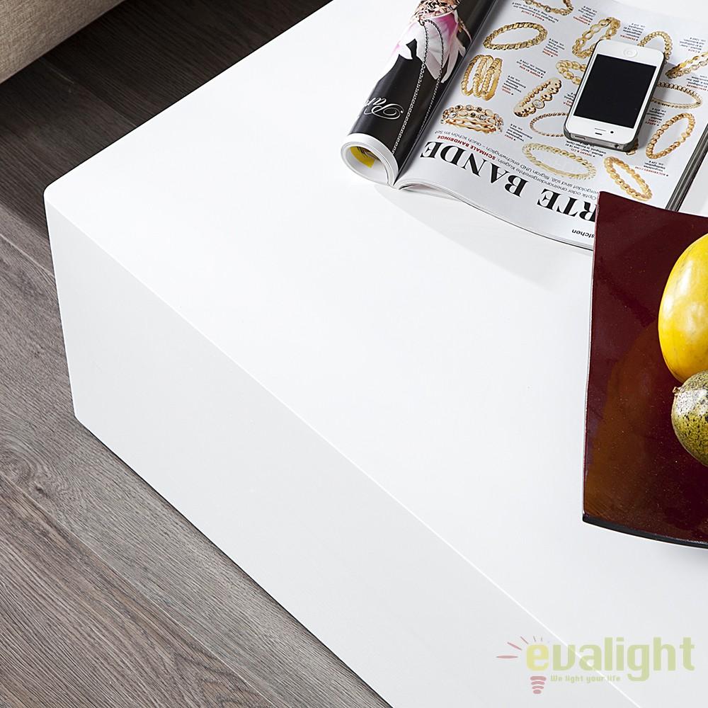Masuta living alba design modernlucios, Monobloc XL 100c