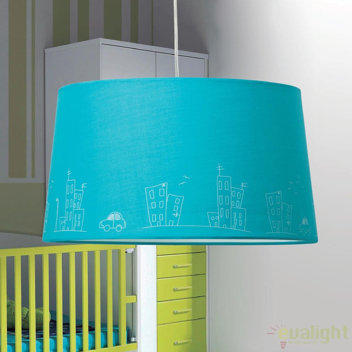 lustra moderna pendul camera copii city 262020 su corpuri de iluminat lustre aplice. Black Bedroom Furniture Sets. Home Design Ideas