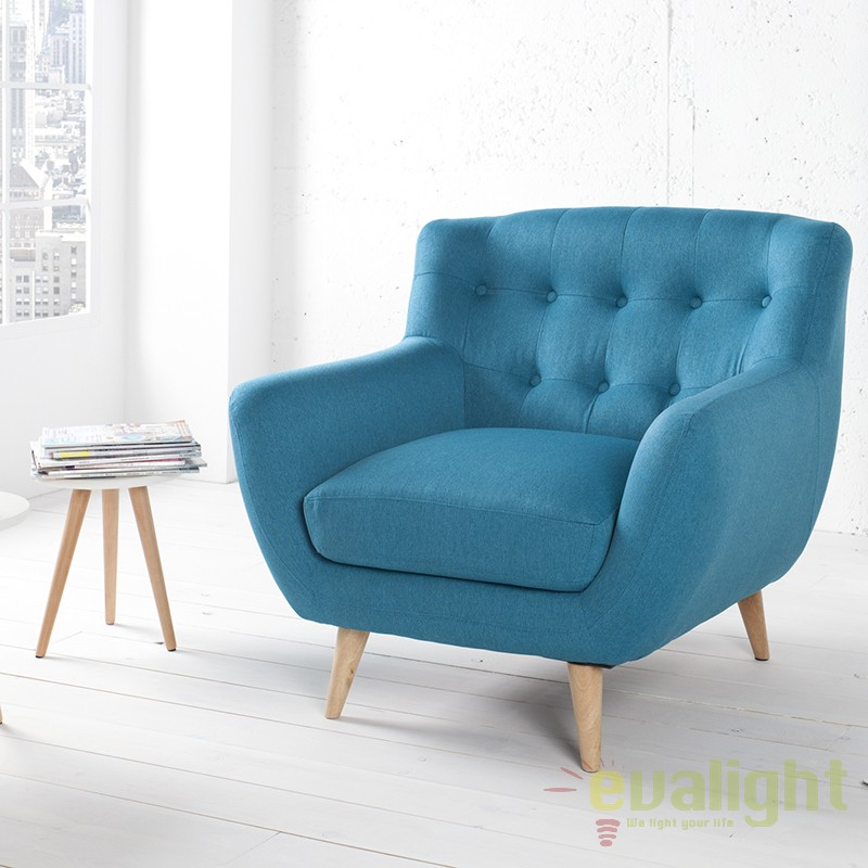 Fotoliu design retro scandinavia ii albastru a 36327 vc for Design retro esstisch scandinavia