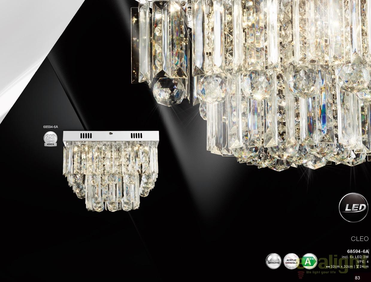 Plafoniere Led Moderne Design : Plafoniera led design modern cleo a gl corpuri de