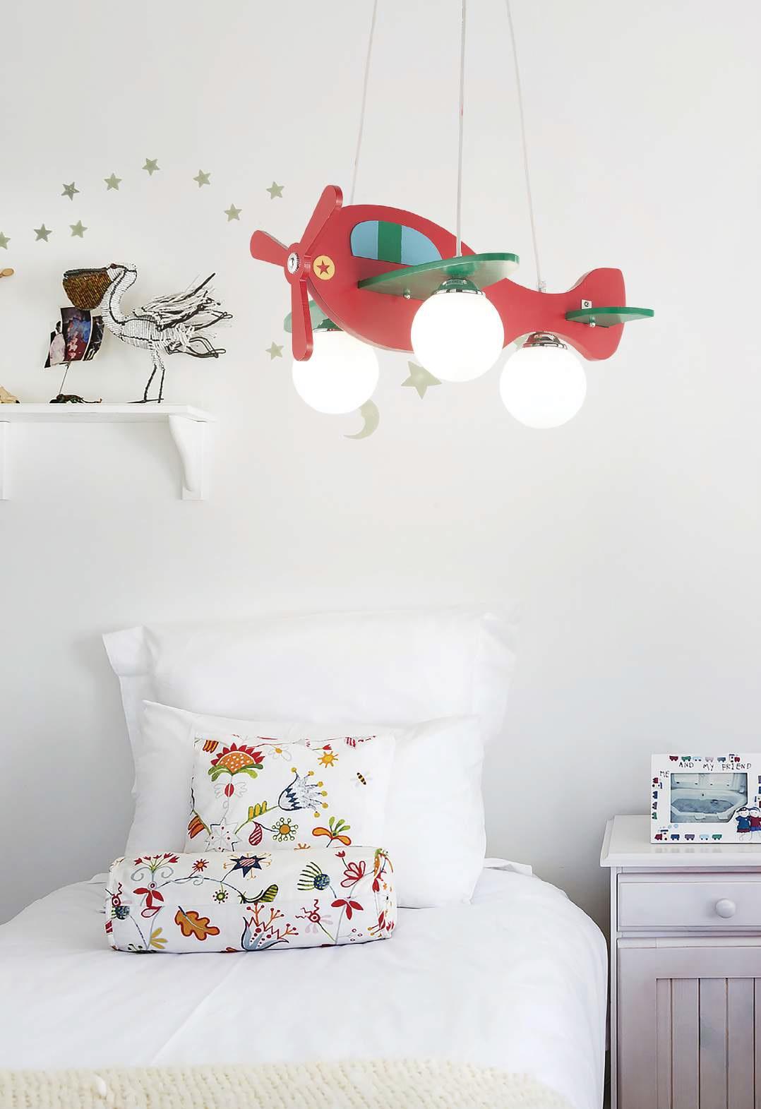 lustra pentru camera copii avion 1 sp3 rosso 136318 corpuri de iluminat lustre aplice. Black Bedroom Furniture Sets. Home Design Ideas