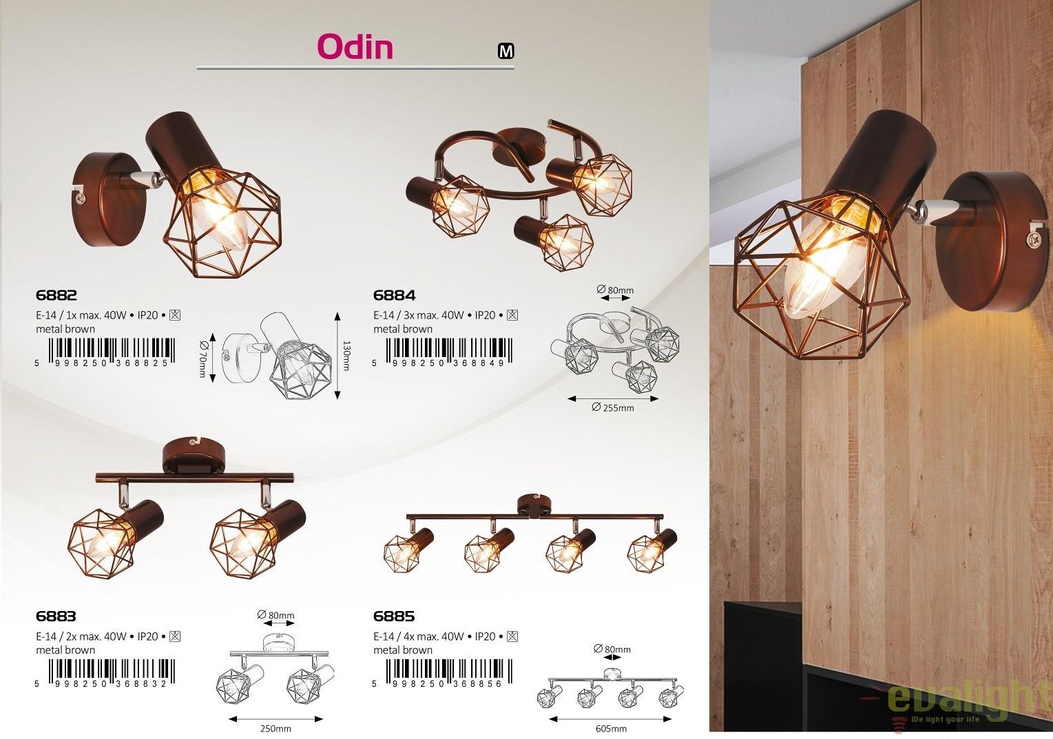Plafoniere Industrial Style : Plafoniera lustra cu 2 spoturi design industrial style finisaj