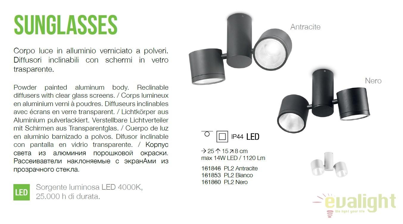 Plafoniera led exterior design modern sunglasses pl2 alba for Luminarias de exterior led