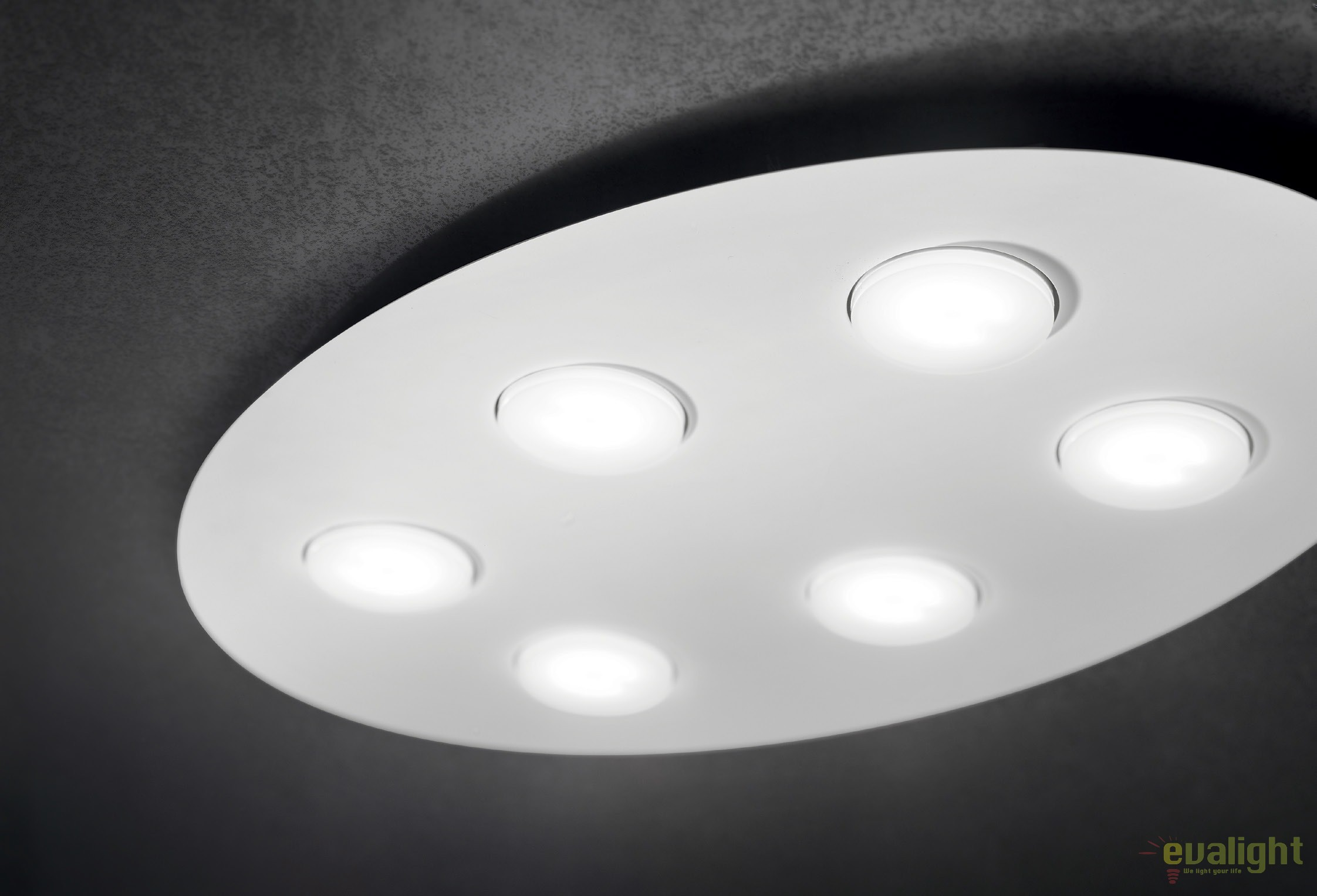 Plafoniera Led Moderna : Plafoniera led moderna logos pl nero corpuri de iluminat