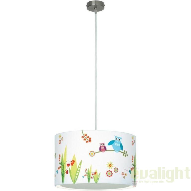 lustra pendul pentru copii diametru 40cm birds 56070 72 bl corpuri de iluminat lustre aplice. Black Bedroom Furniture Sets. Home Design Ideas