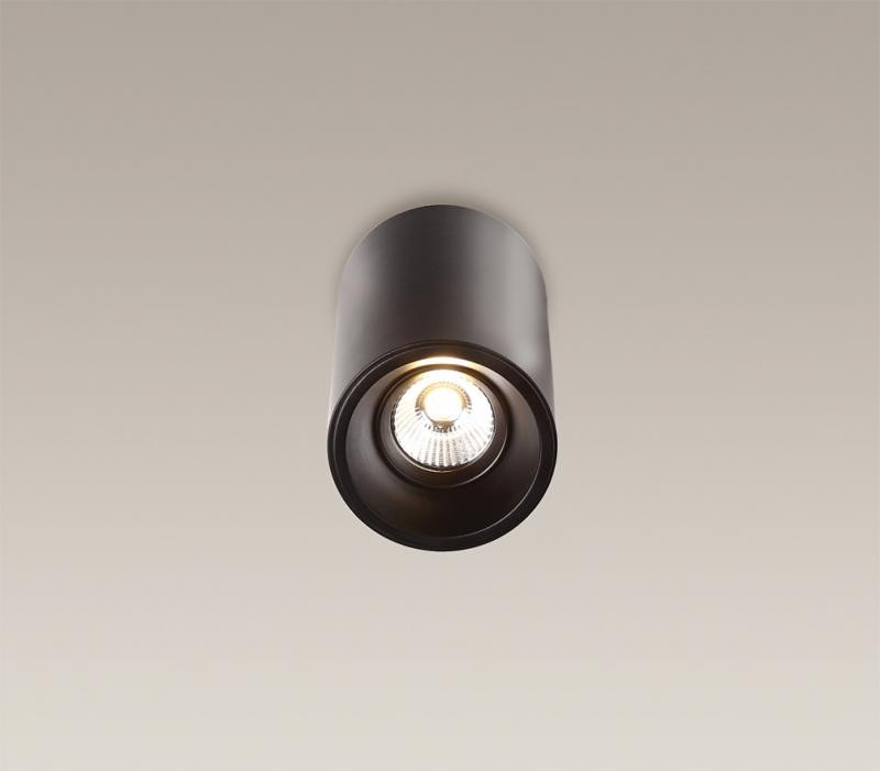 Plafonier, Spot aplicat negru, diam.8,6cm, Led Basic Round C0052 MX, Spoturi LED incastrate, aplicate, Corpuri de iluminat, lustre, aplice a