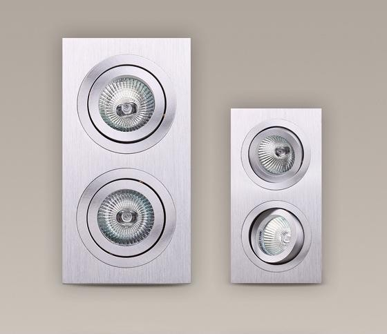 Spot directionabil, incastrabil, nickel satinat, dim.9,3x17,5cm, Aluspot II H0035 MX, Spoturi incastrate, aplicate - tavan / perete, Corpuri de iluminat, lustre, aplice a