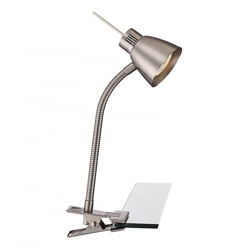 Veioza, lampa de masa cu clips Birou Nuova 2476 GL, Veioze de Birou moderne, Corpuri de iluminat, lustre, aplice a