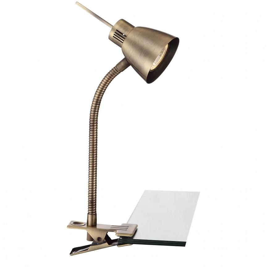 Veioza, lampa de masa Birou Nuova 2477 GL, Veioze de Birou moderne, Corpuri de iluminat, lustre, aplice a