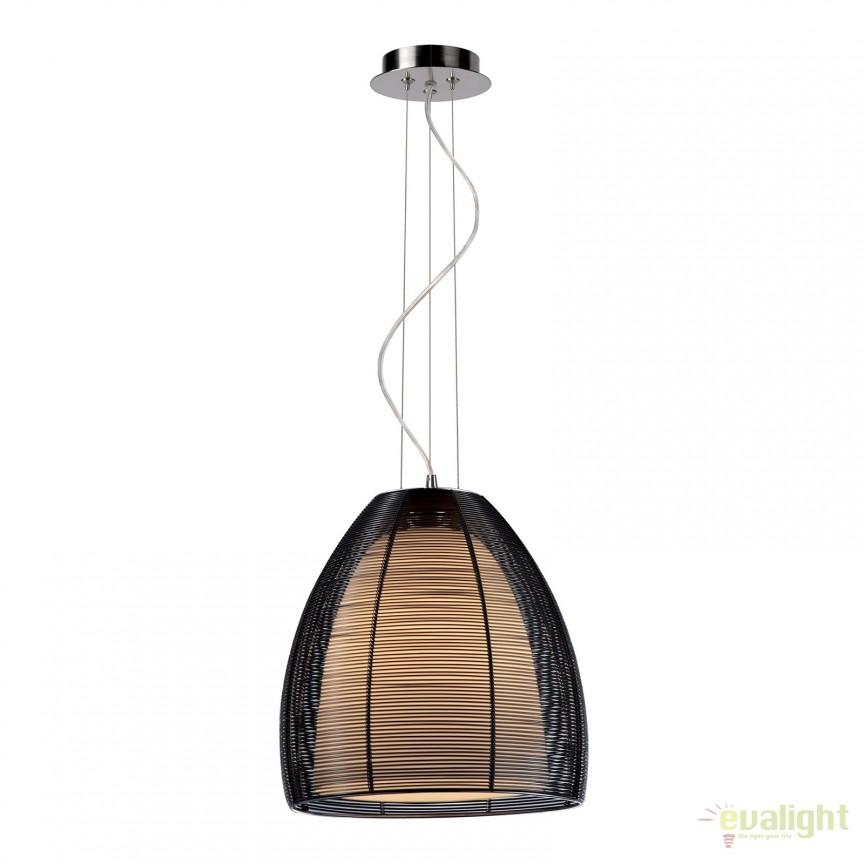 Lustra, Pendul modern negru diam.30cm, H-120cm Pico MD9023-1L black, Promotii si Reduceri⭐ Oferte ✅Corpuri de iluminat ✅Lustre ✅Mobila ✅Decoratiuni de interior si exterior.⭕Pret redus online➜Lichidari de stoc❗ Magazin ➽ www.evalight.ro. a