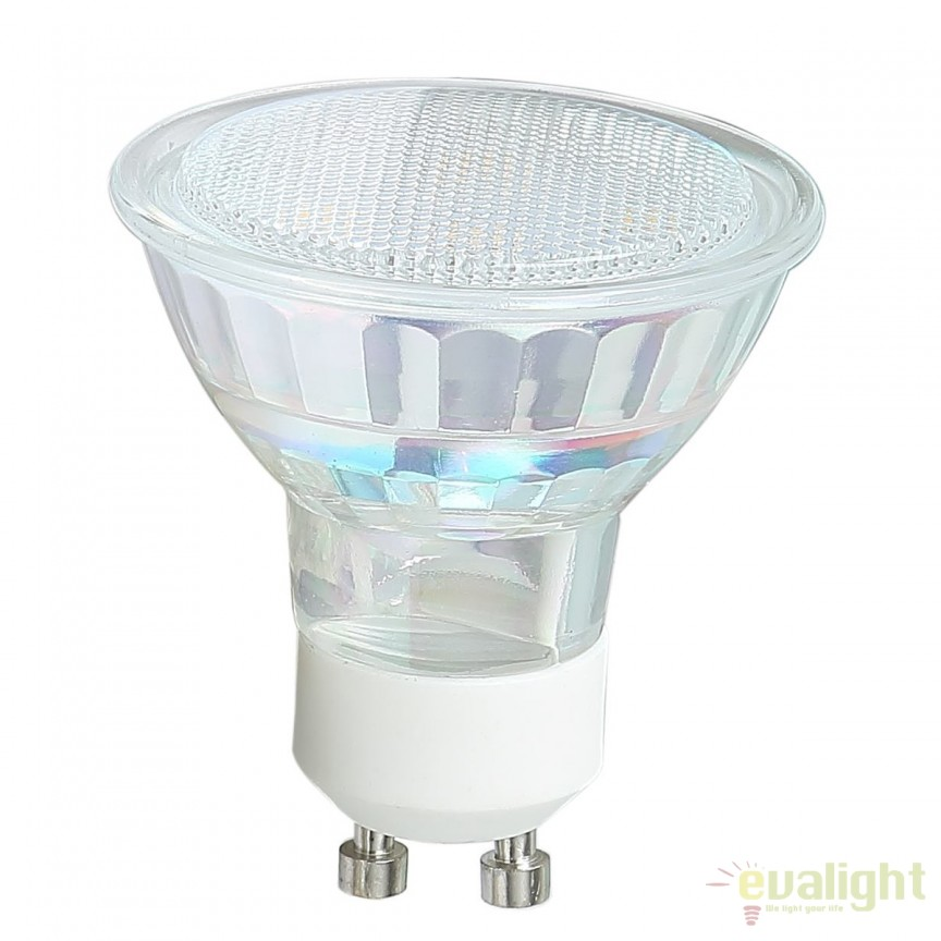 Bec LED 3W echivalent a 25 Watt GU10 10706 GL, Magazin, Corpuri de iluminat, lustre, aplice, veioze, lampadare, plafoniere. Mobilier si decoratiuni, oglinzi, scaune, fotolii. Oferte speciale iluminat interior si exterior. Livram in toata tara.  a