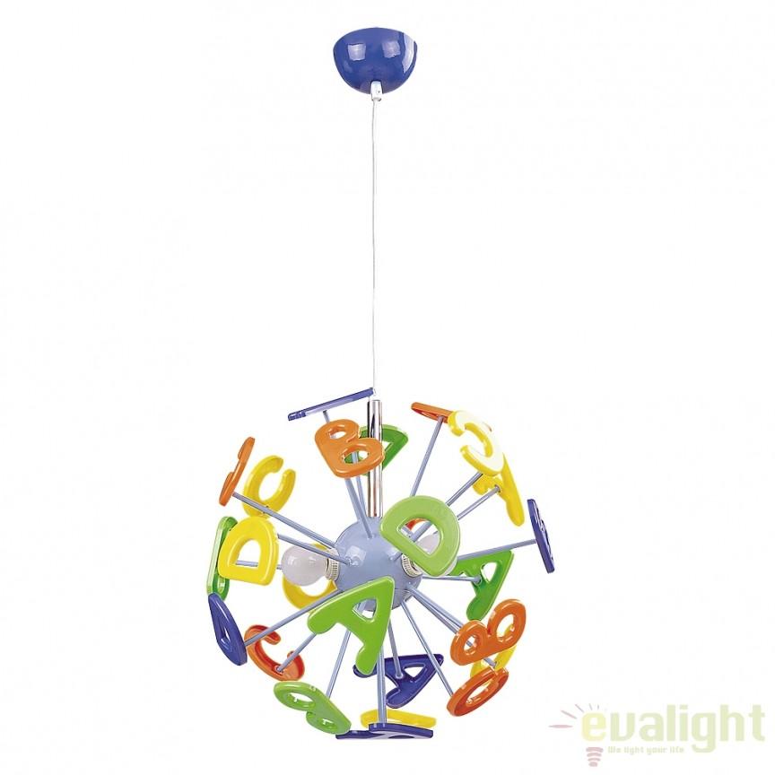 pendul copii cu litere colorate abc 4716 rx corpuri de iluminat lustre aplice. Black Bedroom Furniture Sets. Home Design Ideas