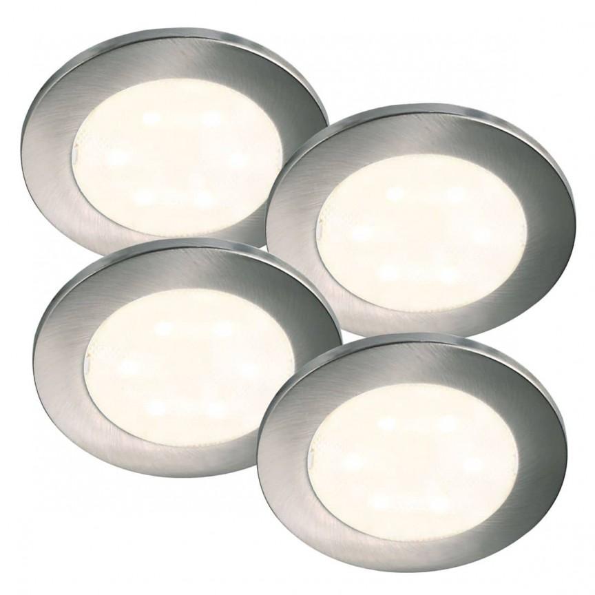 Set de 4 spoturi LED incastrabile Lismore 76730001 NL, Magazin, Corpuri de iluminat, lustre, aplice, veioze, lampadare, plafoniere. Mobilier si decoratiuni, oglinzi, scaune, fotolii. Oferte speciale iluminat interior si exterior. Livram in toata tara.  a