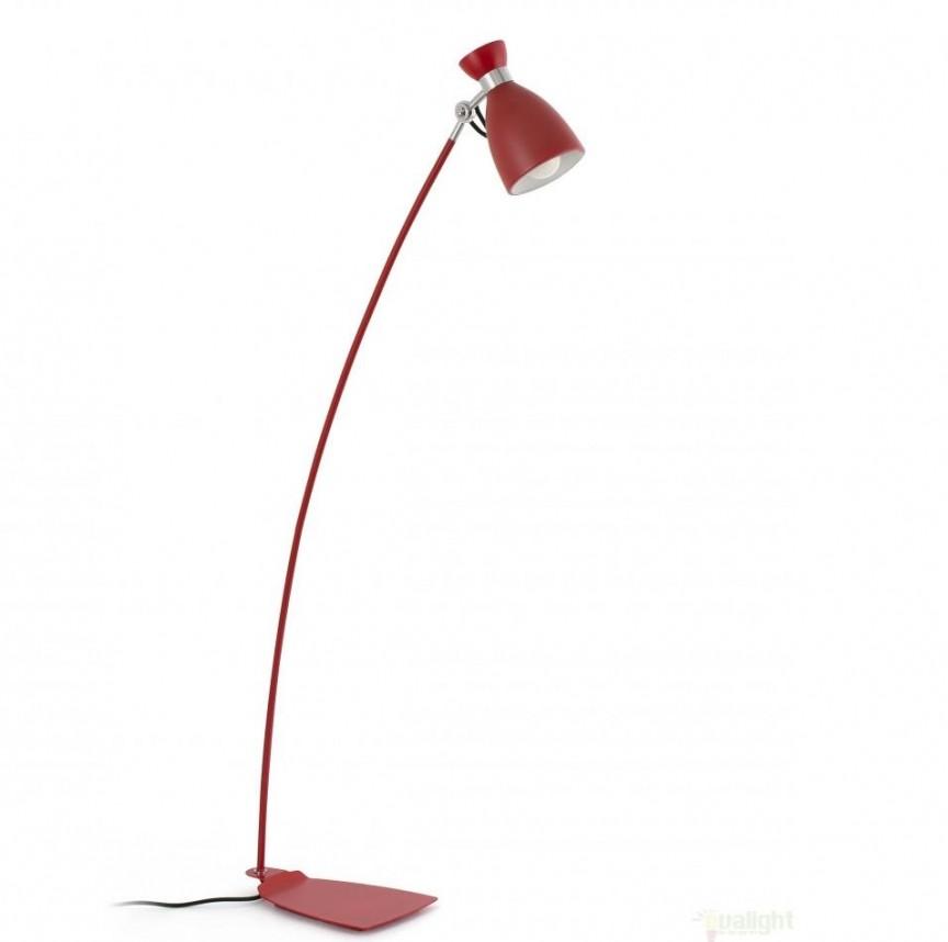 Lampadar / lampa de podea vintage rosie H-125 cm, Retro 20009 , PROMOTII, Corpuri de iluminat, lustre, aplice, veioze, lampadare, plafoniere. Mobilier si decoratiuni, oglinzi, scaune, fotolii. Oferte speciale iluminat interior si exterior. Livram in toata tara.  a