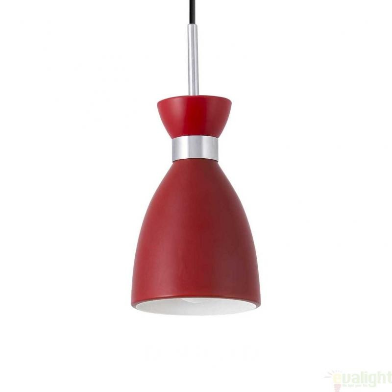 Lustra / Pendul design Vintage rosu, RETRO 20018 , Cele mai vandute Corpuri de iluminat, lustre, aplice, veioze, lampadare, plafoniere. Mobilier si decoratiuni, oglinzi, scaune, fotolii. Oferte speciale iluminat interior si exterior. Livram in toata tara.  a
