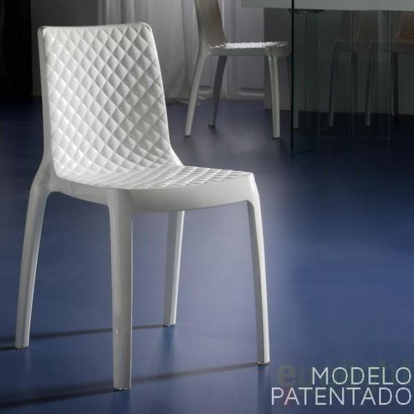 Scaun modern din policarbonat alb, DANA 698751, Scaune dining , Corpuri de iluminat, lustre, aplice a