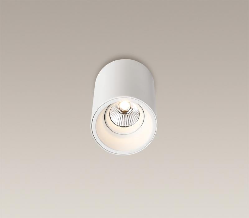 Plafonier, Spot aplicat alb, diam.8,6cm, Led Basic Round C0051 MX, Spoturi incastrate, aplicate - tavan / perete, Corpuri de iluminat, lustre, aplice a