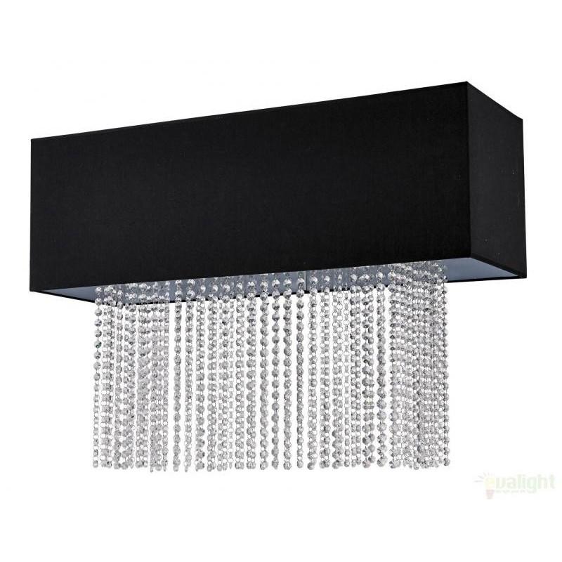 Lustra, Plafonier modern negru, dim.90x30cm, PHOENIX PL5 101156, PROMOTII, Corpuri de iluminat, lustre, aplice, veioze, lampadare, plafoniere. Mobilier si decoratiuni, oglinzi, scaune, fotolii. Oferte speciale iluminat interior si exterior. Livram in toata tara.  a