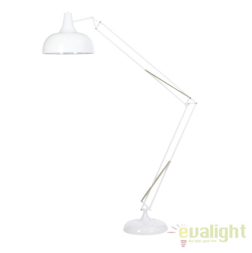 Lampadar, lampa de podea moderna, brat articulat, finisaj alb, GIANT-XL-W MUNO Design, PROMOTII,  a