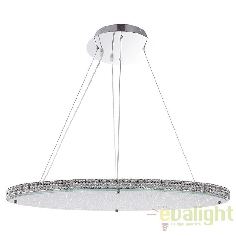 Lustra moderna LED cu 3 culori, variator si telecomanda, Curado 15683 GL, Lampi LED si Telecomanda, Corpuri de iluminat, lustre, aplice, veioze, lampadare, plafoniere. Mobilier si decoratiuni, oglinzi, scaune, fotolii. Oferte speciale iluminat interior si exterior. Livram in toata tara.  a