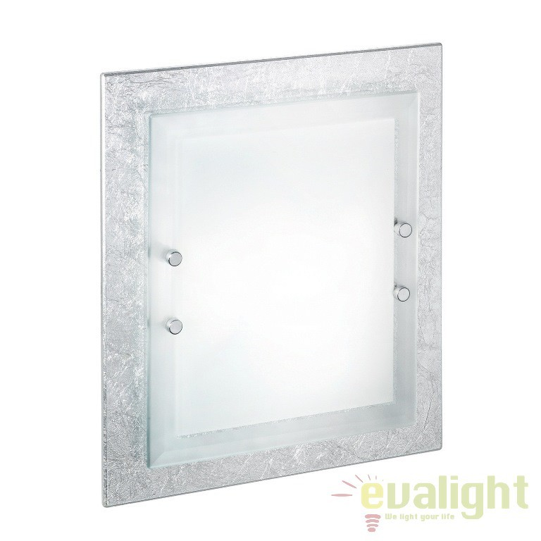 Aplica de perete,Plafonier dim. 30x38cm ALASKA PL2 argintiu 093413,  a
