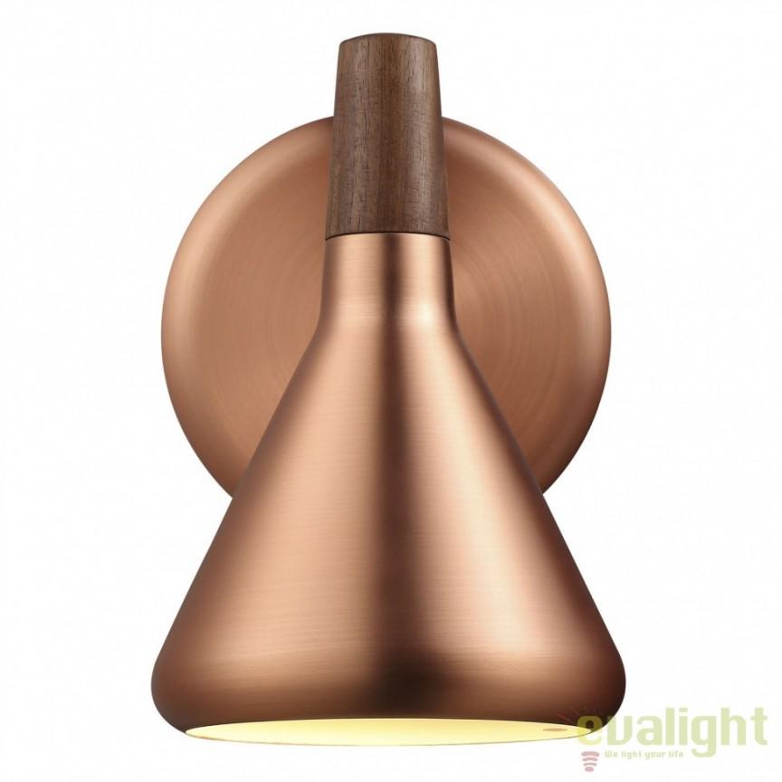 Aplica de perete design vintage, finisaj cupru, Float 83001030 NL, Aplice de perete moderne, Corpuri de iluminat, lustre, aplice a