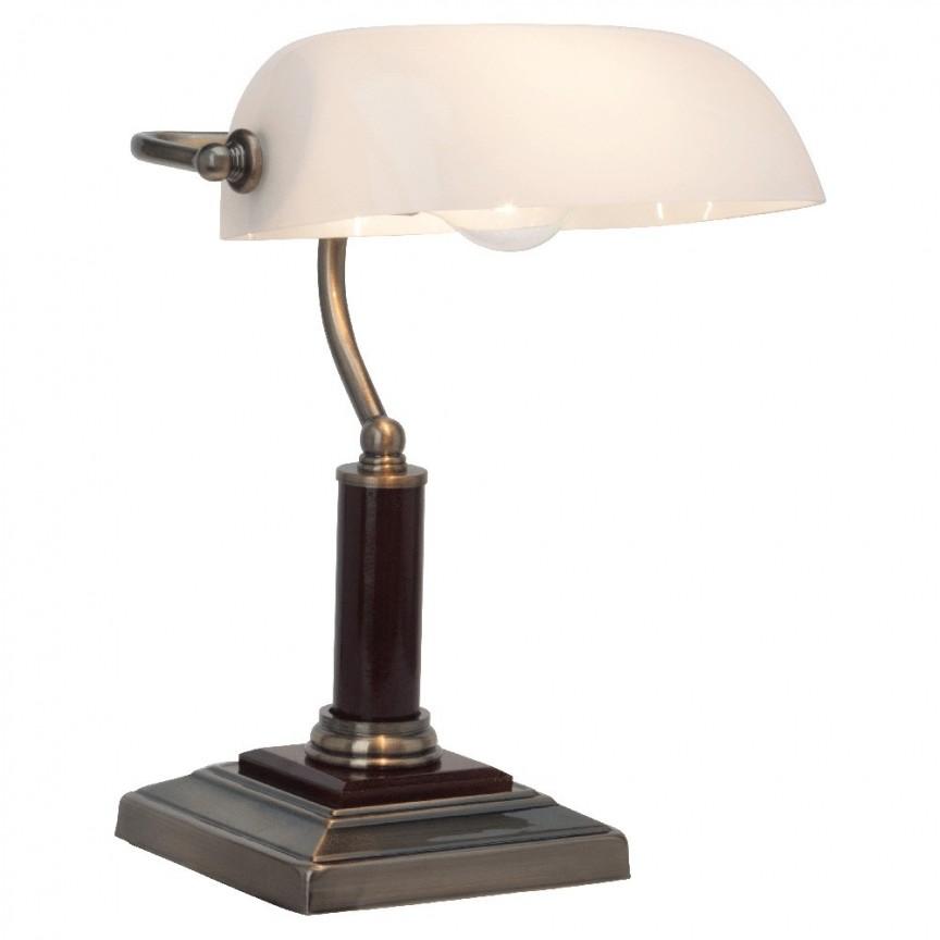 Veioza, lampa de masa eleganta Bankir 92679/31 BL,  a