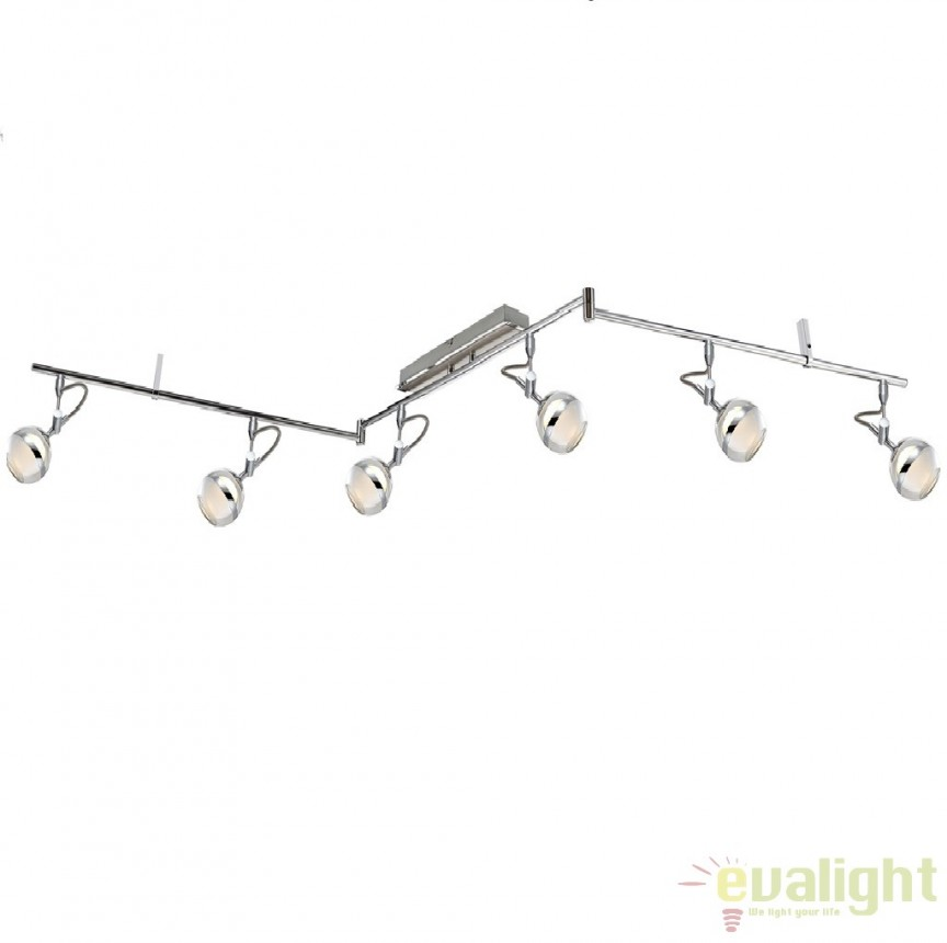 Plafoniera cu 6 spoturi cu iluminat LED, diam.180cm, Denver 56548-6 GL, Spoturi - iluminat - cu 5 si 6 spoturi, Corpuri de iluminat, lustre, aplice a