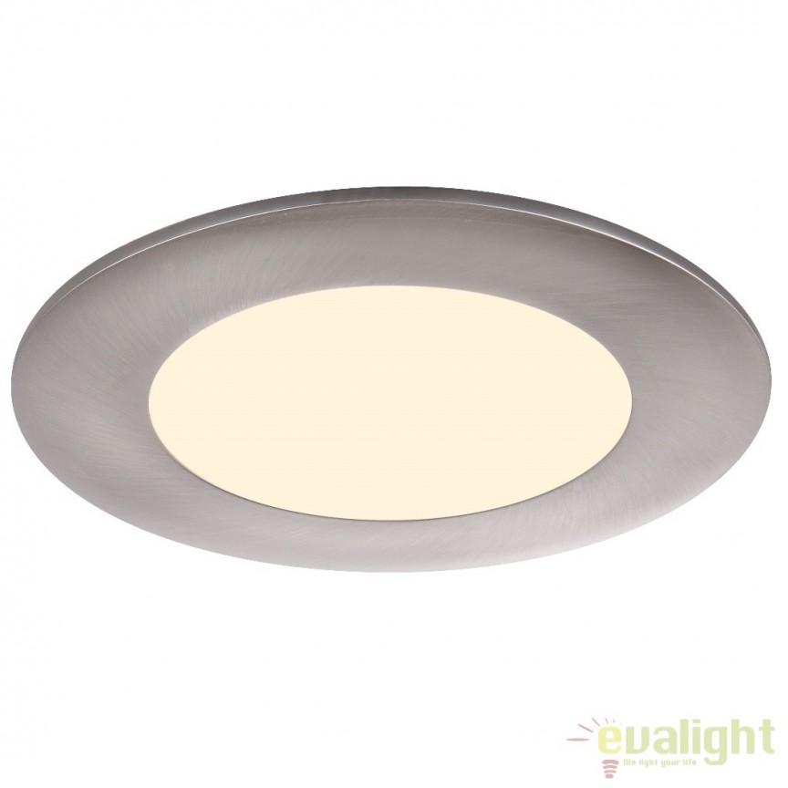 Spot incastrabil pt. tavan fals, diam.8,5cm, LED DOWN LIGHTS 12354 Globo Lighting , Spoturi LED incastrate, aplicate, Corpuri de iluminat, lustre, aplice a