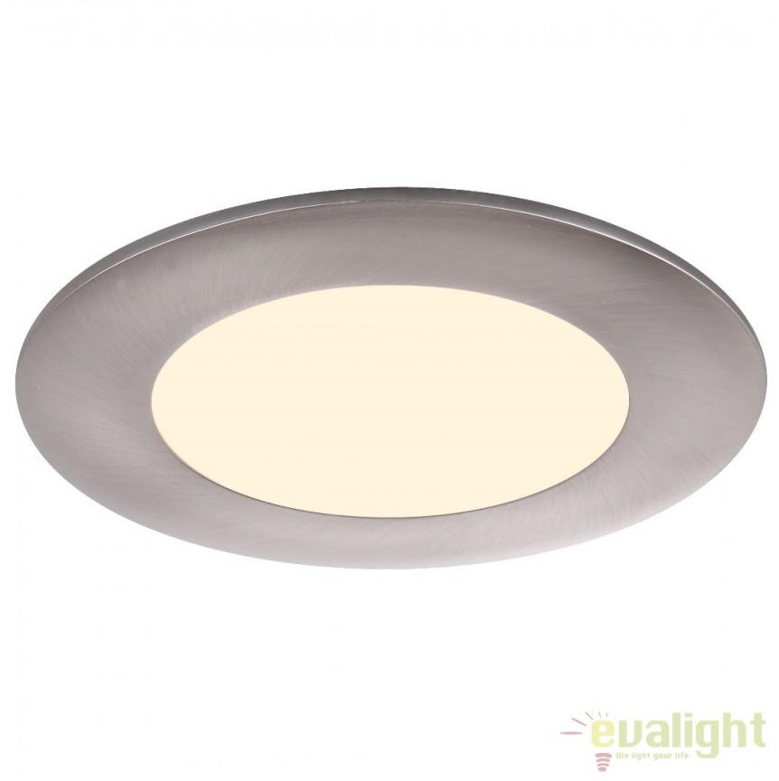 Spot incastrabil pt. tavan fals, diam.12cm, LED DOWN LIGHTS 12355 Globo Lighting , Spoturi LED incastrate, aplicate, Corpuri de iluminat, lustre, aplice a
