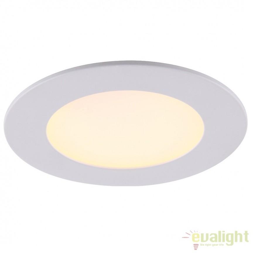 Spot incastrabil pt. tavan fals, diam.8,5cm, LED DOWN LIGHTS 12350, Spoturi LED incastrate, aplicate, Corpuri de iluminat, lustre, aplice, veioze, lampadare, plafoniere. Mobilier si decoratiuni, oglinzi, scaune, fotolii. Oferte speciale iluminat interior si exterior. Livram in toata tara.  a