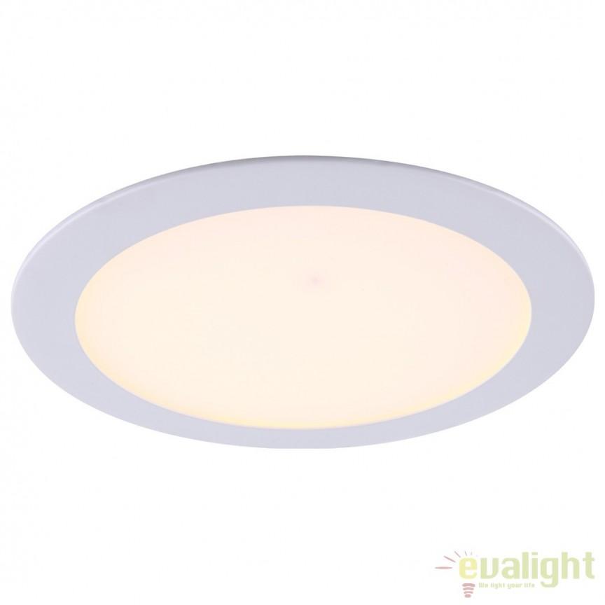 Spot incastrabil pt. tavan fals, diam.17cm, LED DOWN LIGHTS 12352 GL, Spoturi incastrate, aplicate - tavan / perete, Corpuri de iluminat, lustre, aplice, veioze, lampadare, plafoniere. Mobilier si decoratiuni, oglinzi, scaune, fotolii. Oferte speciale iluminat interior si exterior. Livram in toata tara.  a
