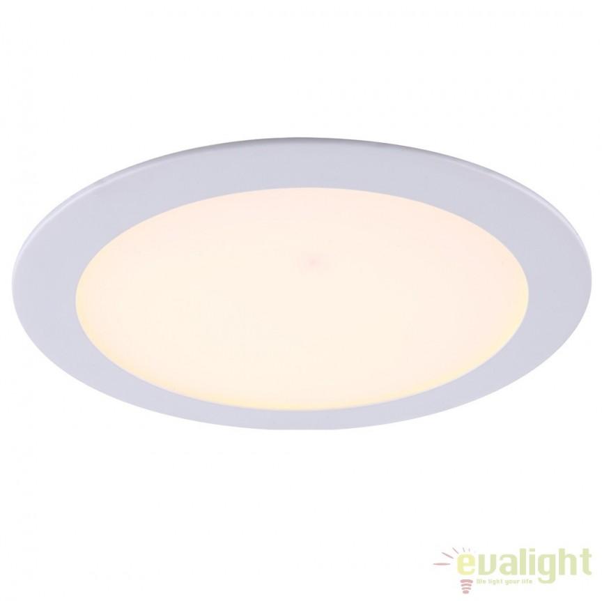 Spot incastrabil pt. tavan fals, diam.22,5cm, LED DOWN LIGHTS 12353 Globo Lighting , Spoturi LED incastrate, aplicate, Corpuri de iluminat, lustre, aplice a