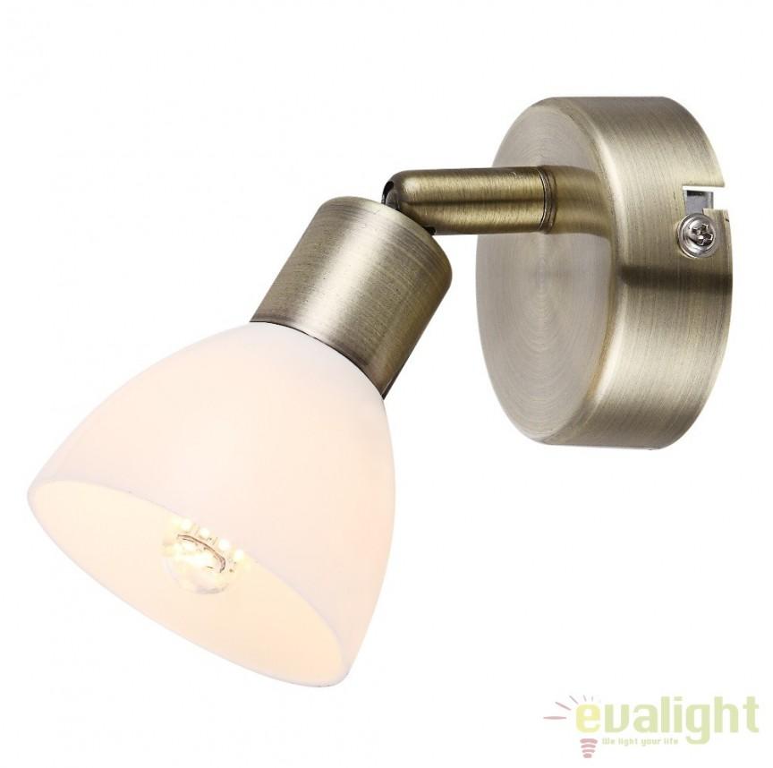 Aplica de perete cu 1 spot, iluminat LED, Helios 56045-1 GL, Aplice de perete LED, Corpuri de iluminat, lustre, aplice, veioze, lampadare, plafoniere. Mobilier si decoratiuni, oglinzi, scaune, fotolii. Oferte speciale iluminat interior si exterior. Livram in toata tara.  a