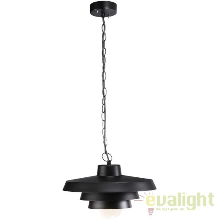 Pendul modern negru cu protectie IP44, diametru 35cm, Elements 35 76193003NL, Lustre, Pendule suspendate de exterior, Corpuri de iluminat, lustre, aplice a