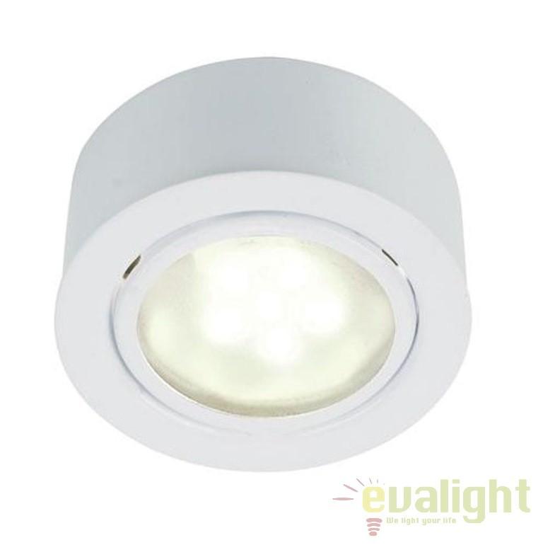 Spot incastrat sau aplicat, cu protectie IP44, diam.6,6cm, Mercur 1-Kit LED 76910101 NL , Spoturi incastrate, aplicate - tavan / perete, Corpuri de iluminat, lustre, aplice a