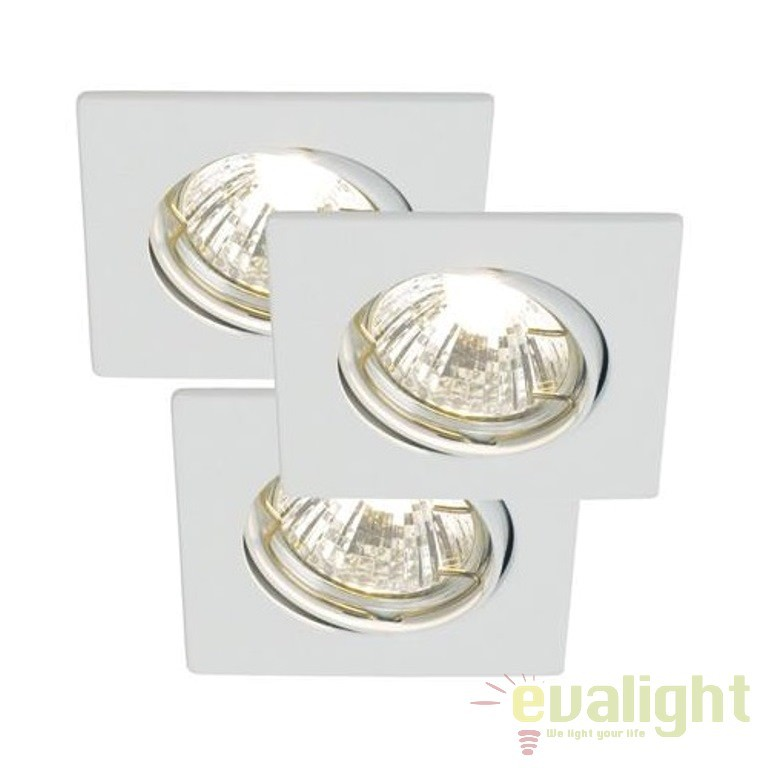 Set 3 spoturi orientabile incastrate pt. interior sau exterior Niche 20010101 NL, Spoturi incastrate, aplicate - tavan / perete, Corpuri de iluminat, lustre, aplice a