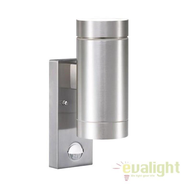 Aplica de perete exterior, dubla cu senzor, IP54 Tin Maxi aluminiu 21519129 NL, PROMOTII, Corpuri de iluminat, lustre, aplice, veioze, lampadare, plafoniere. Mobilier si decoratiuni, oglinzi, scaune, fotolii. Oferte speciale iluminat interior si exterior. Livram in toata tara.  a
