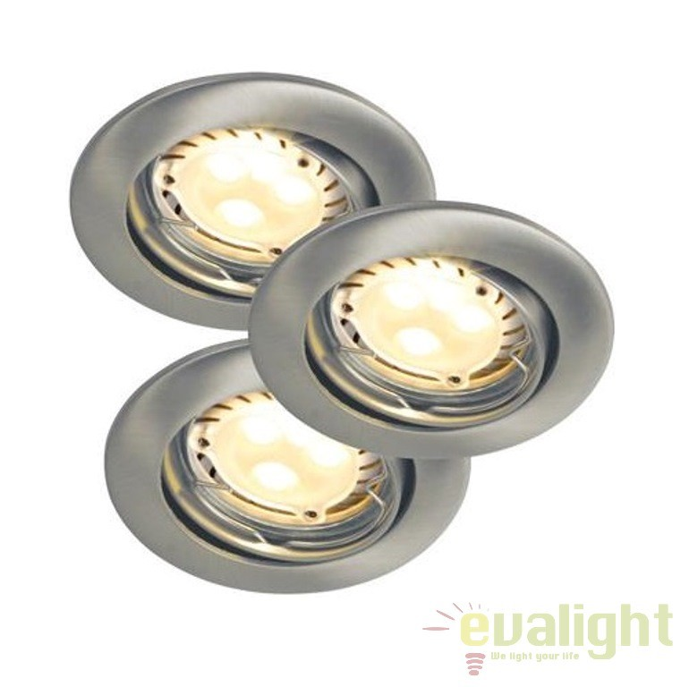 Set 3 spoturi orientabile, incastrabile Triton LED Hi-Power 54390132 NL, Spoturi LED incastrate, aplicate, Corpuri de iluminat, lustre, aplice, veioze, lampadare, plafoniere. Mobilier si decoratiuni, oglinzi, scaune, fotolii. Oferte speciale iluminat interior si exterior. Livram in toata tara.  a