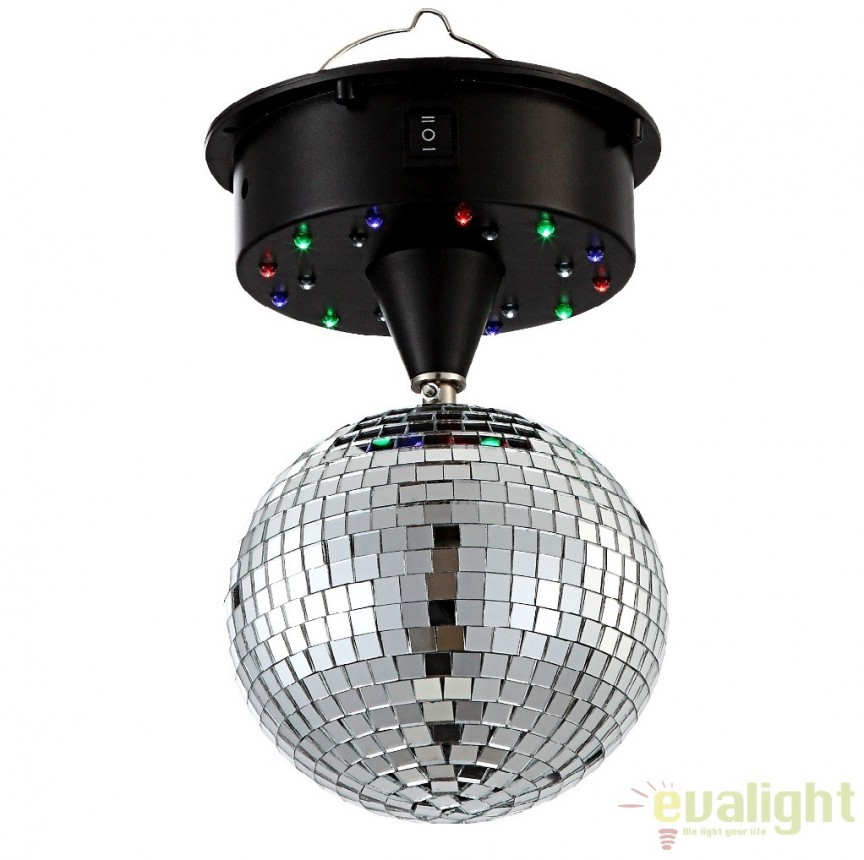 Glob luminos rotativ cu iluminat LED, DANCE 28005 GL, ILUMINAT FESTIV, Corpuri de iluminat, lustre, aplice a