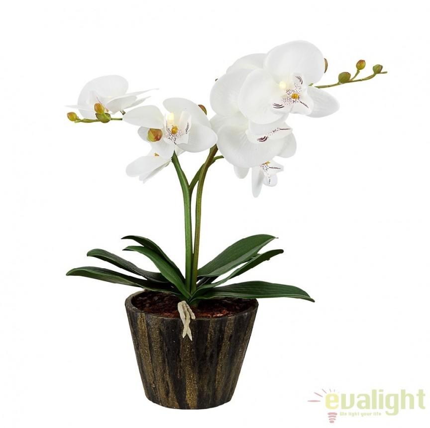 Ghiveci cu flori decorative cu iluminat LED, FLOWERPOWER 28002 GL, ILUMINAT FESTIV, Corpuri de iluminat, lustre, aplice a