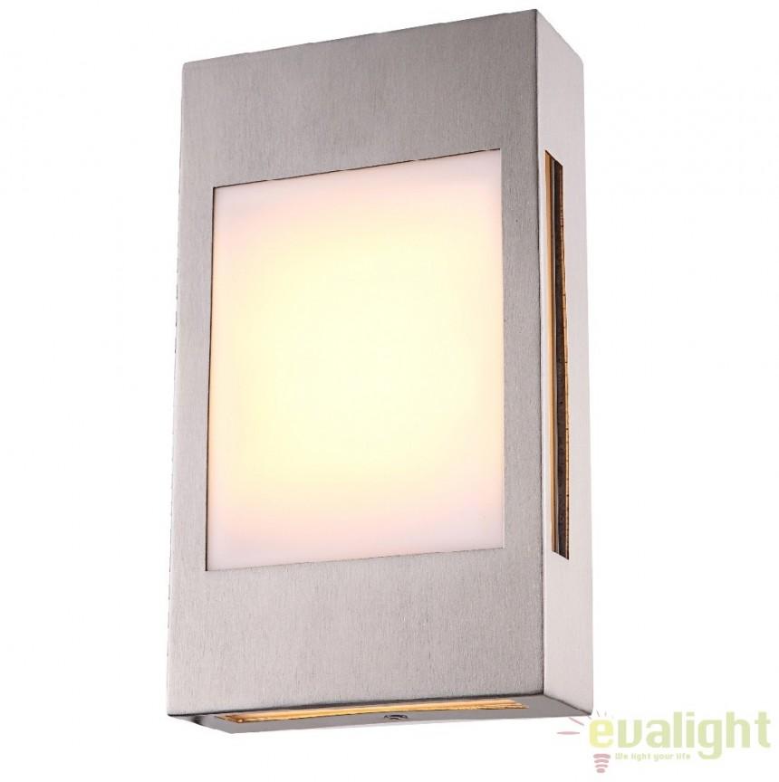 Aplica perete de exterior cu iluminat LED, IP44, Clash 32420 Globo Lighting, PROMOTII, Corpuri de iluminat, lustre, aplice, veioze, lampadare, plafoniere. Mobilier si decoratiuni, oglinzi, scaune, fotolii. Oferte speciale iluminat interior si exterior. Livram in toata tara.  a