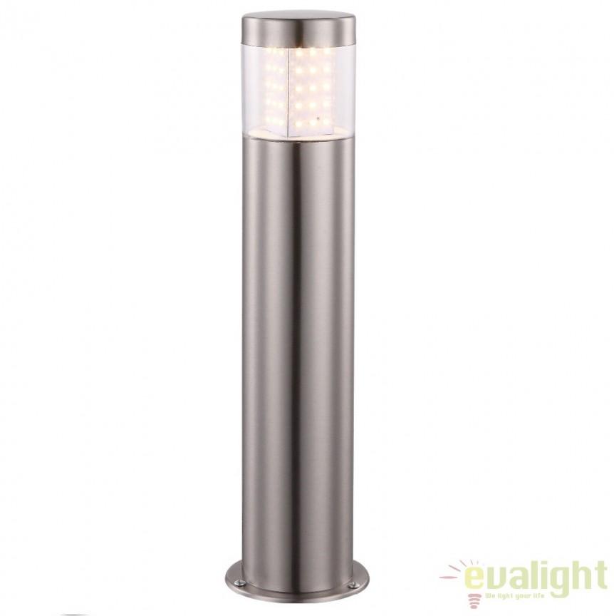 Stalp de exterior modern cu iluminat LED inaltime 40cm cu protectie IP44, Devian LED 34015 GL, Stalpi de iluminat exterior mici si medii , Corpuri de iluminat, lustre, aplice a