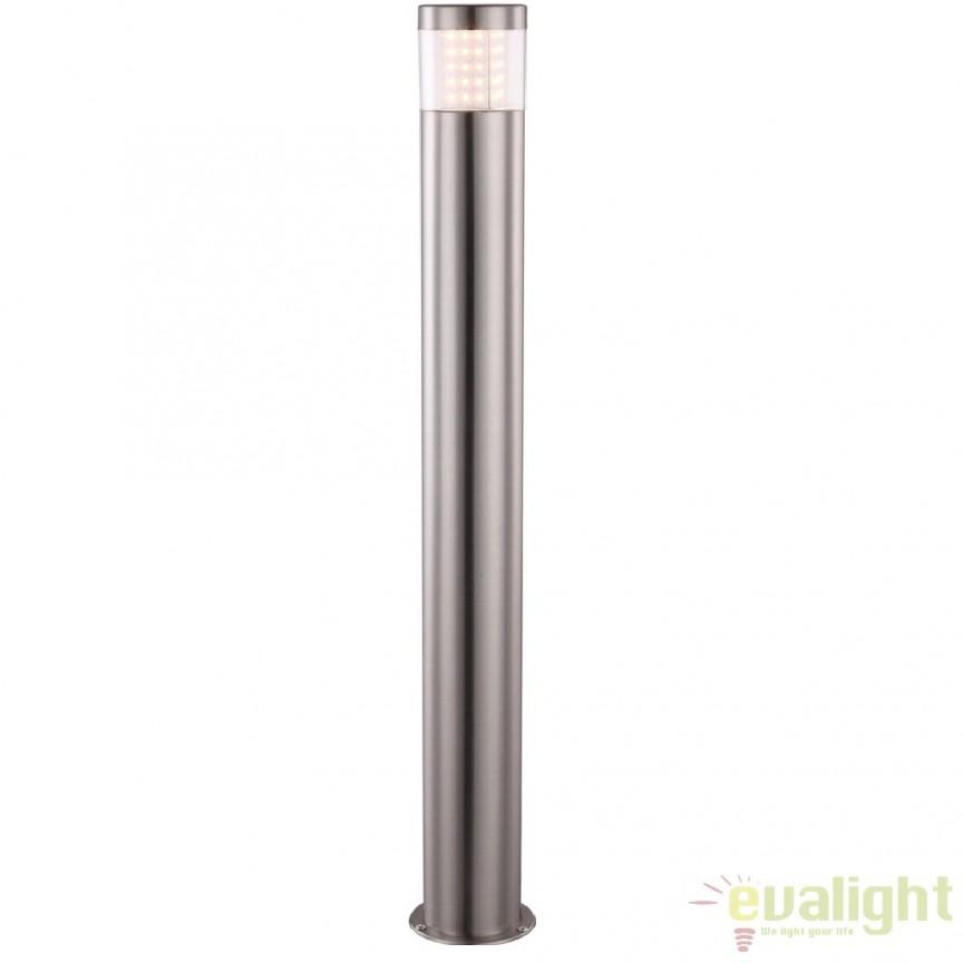 Stalp de exterior modern cu iluminat LED inaltime 80cm cu protectie IP44, Devian LED 34016 GL, Stalpi de iluminat exterior mici si medii , Corpuri de iluminat, lustre, aplice a