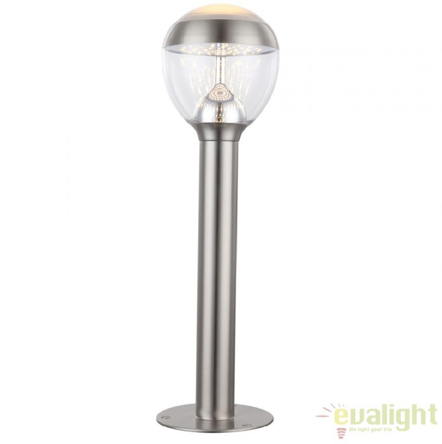 Stalp de exterior modern cu iluminat LED inaltime 59cm cu protectie IP44, Callisto LED 34251 GL, Stalpi de iluminat exterior mici si medii , Corpuri de iluminat, lustre, aplice a