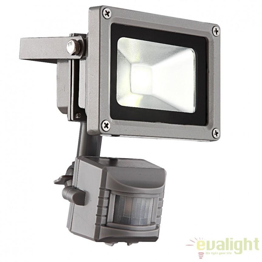 Proiector de exterior cu senzor de miscare, iluminat LED, protectie IP44, Radiator IV 34107S GL, Proiectoare de iluminat exterior , Corpuri de iluminat, lustre, aplice a