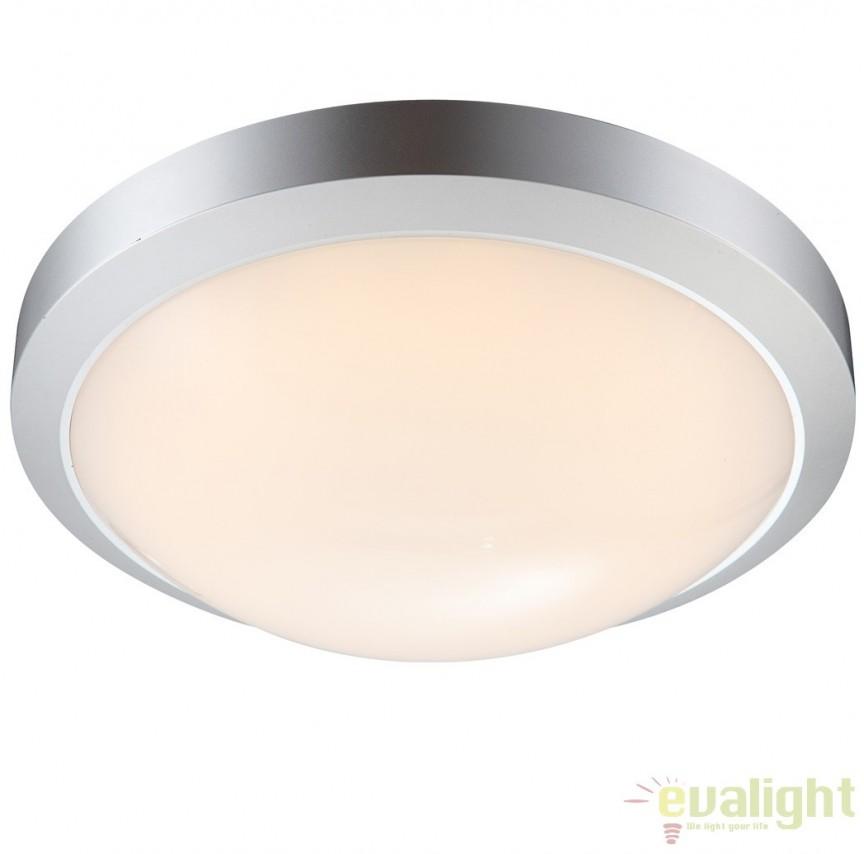 Plafoniera de exterior cu iluminat LED, IP65, JOHN 32107 GL, Plafoniere de exterior, Corpuri de iluminat, lustre, aplice, veioze, lampadare, plafoniere. Mobilier si decoratiuni, oglinzi, scaune, fotolii. Oferte speciale iluminat interior si exterior. Livram in toata tara.  a