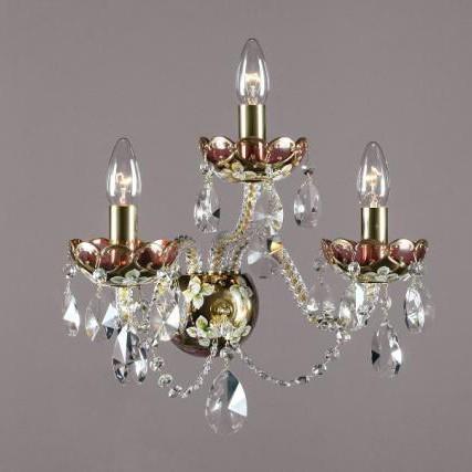 Aplica cristal Bohemia N23 001/03/1-A; GOLD, F rosaline, Aplice Cristal Bohemia, Corpuri de iluminat, lustre, aplice, veioze, lampadare, plafoniere. Mobilier si decoratiuni, oglinzi, scaune, fotolii. Oferte speciale iluminat interior si exterior. Livram in toata tara.  a